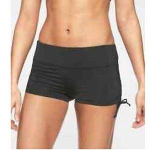 Athleta black bikini shorts
